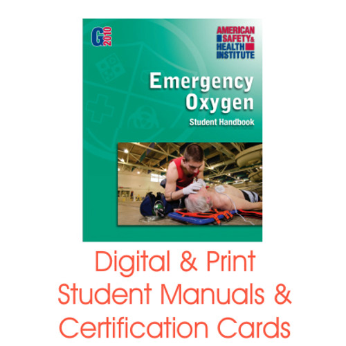 ASHI Emergency Oxygen Student Manual and Certification Card
