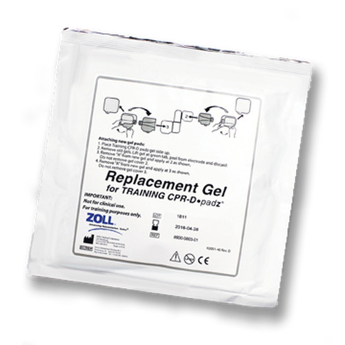 REPLACEMENT ADHESIVE GELS FOR CPR-D PADZ 5-PACK ZOLL AED TRAINER