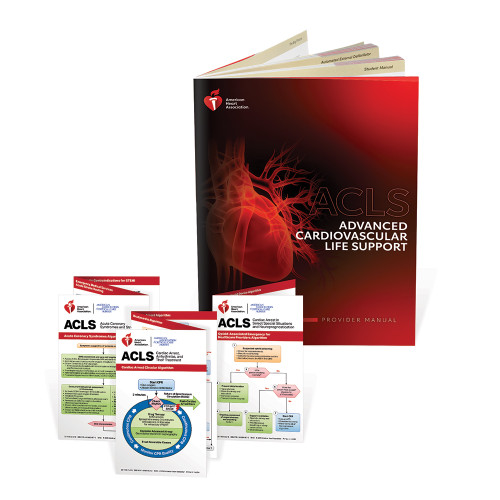 2020 AHA ACLS Provider Manual with Reference Card Set