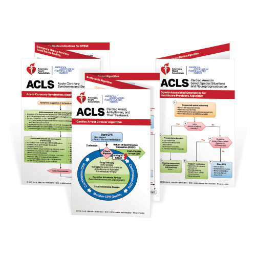 2020 AHA ACLS Pocket Reference Card Set