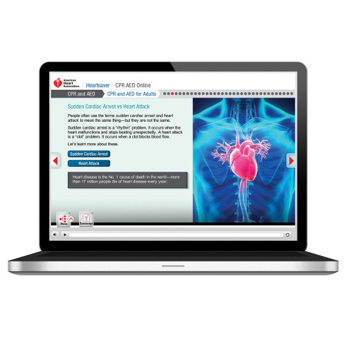 2015 AHA Heartsaver® CPR AED Online Blended Learning Course
