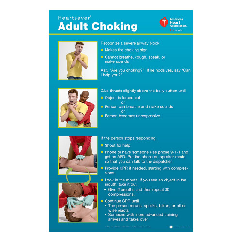 2015 AHA Heartsaver® Adult Choking Poster