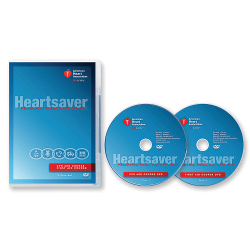 2015 AHA Heartsaver® Pediatric First Aid CPR AED DVD Set with Discs