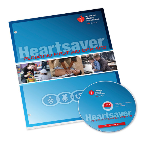 2015 AHA Heartsaver® Pediatric First Aid CPR AED Instructor Manual with Disc