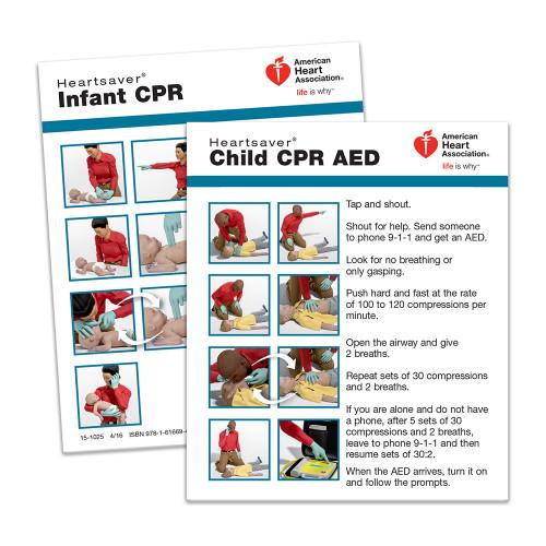 2015 AHA Heartsaver® Child & Infant CPR Wallet Card