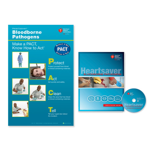 2015 AHA Heartsaver® Bloodborne Pathogens Facilitator Package Poster and DVD