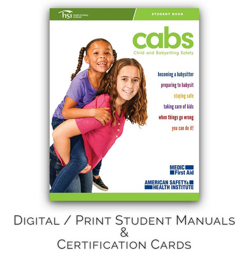 ASHI Child & Babysitting Safety (CABS) Certification Cards & Student Handbooks (Set of 5)