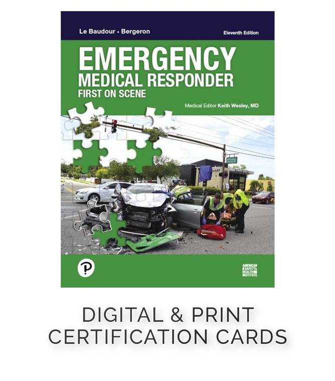 ASHI Emergency Medical Response Certification Cards (Set of 5)
