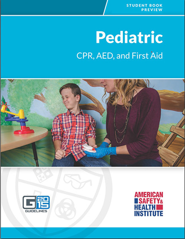 ASHI Pediatric CPR/AED/First Aid Certification Cards & Student Handbooks (Set of 5)