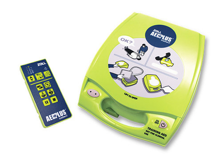 ZOLL AED PLUS TRAINER 2 UNIT AND REMOTE CONTROL