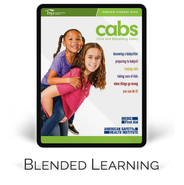 ASHI Child and Babysitting Safety (CABS)   Blended Learning Course Materials (Set of 5)