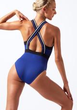 Move Dance Passion Zip Front Leotard Blue front. [Blue]