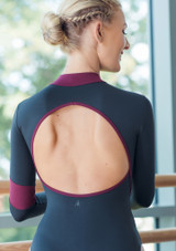 Move Dance Inspire Turtleneck Leotard Black back #2. [Black]