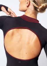 Move Dance Inspire Turtleneck Leotard Black front #4. [Black]