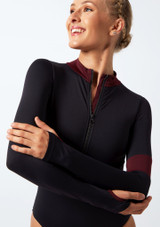 Move Dance Inspire Turtleneck Leotard Black front #3. [Black]