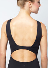 Move Dance Keirea V Front Lace Leotard Black back #2. [Black]