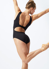 Move Dance Keirea V Front Lace Leotard Black back. [Black]