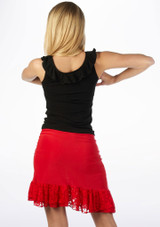 Move Lilia Latin Skirt Red #2. [Red]