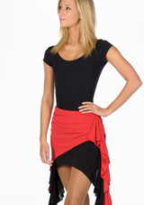 Move Ola Latin Skirt Black-Red. [Black-Red]