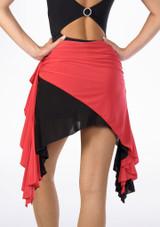 Move Ola Latin Skirt Black-Red #2. [Black-Red]