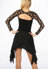 Move Ola Latin Skirt Black #4. [Black]