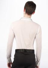 Move Men's Latin Mesh Shirt White [White]