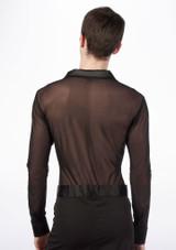 Move Men's Latin Mesh Shirt Black [Black]