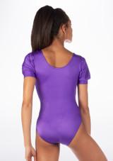 Alegra Shiny Rosalie Leotard Purple back. [Purple]