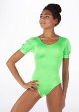 Alegra Shiny Rosalie Leotard Green front #2. [Green]