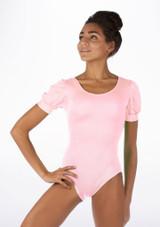 Alegra Shiny Rosalie Leotard Pink front #2. [Pink]