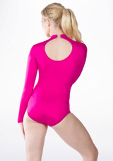 Alegra Shiny Ashlyn Leotard Pink back. [Pink]