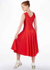 Tappers & Pointers Tank Ballroom Dress Long Red back. [Red]