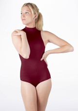 Alegra Shiny Verity Leotard Red front. [Red]