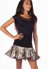 Move Elyse Skirt Black-Multi-Colour. [Black-Multi-Colour]