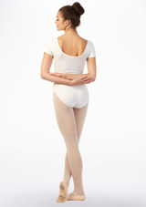 Move Bibi Leotard NEW White back. [White]