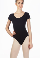 Move Bibi Leotard NEW Black front. [Black]