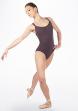 Move Jenae Leotard Grey front. [Grey]