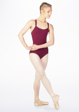 Move Antonia Cross Back Leotard Purple front.