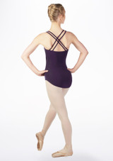 Move Antonia Cross Back Leotard Blue back #2. [Blue]