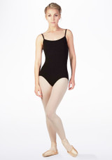 Move Ida Cross Back Leotard Black front. [Black]