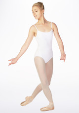Move Ida Cross Back Leotard White front. [White]