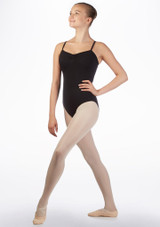 Move Poloma Teen Open Camisole Leotard Black front. [Black]