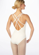 Move Brook Leotard NEW Red back. [White]