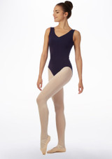 Move Loren Leotard NEW Black Blue front #2. [Blue]