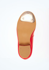 Tappers and Pointers Red Low Heel Tap #3. [Red]