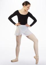 Move Chloe Wrap Skirt White front. [White]
