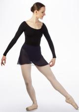 Move Chloe Wrap Skirt Blue front. [Blue]