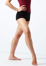 Move Kara Shorts Black front. [Black]