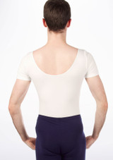 Freed RAD Short Sleeve Thong Leotard White #2. [White]