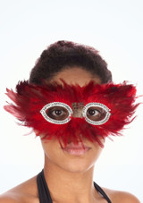 Feather Eyemask Red. [Red]